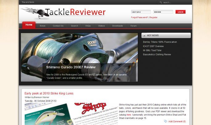 Tackle Reviewer