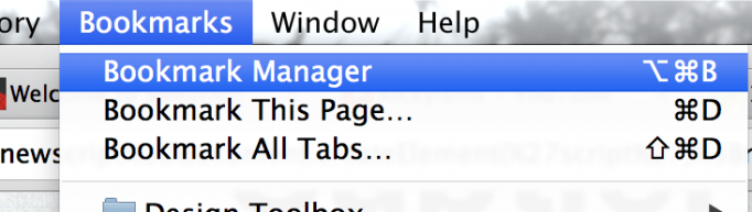 Bookmark Manager in Google Chrome