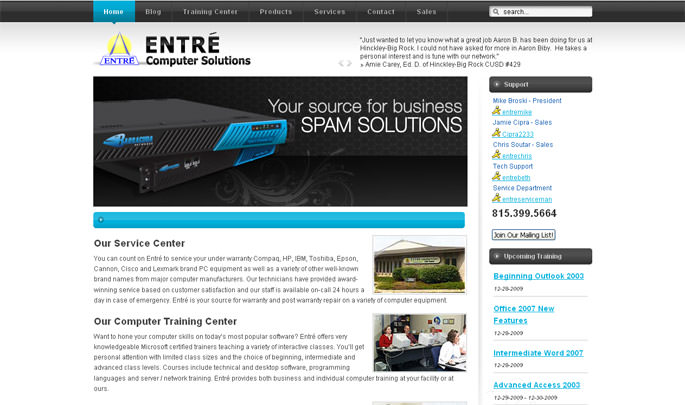 Entre Computer Solutions Site Redesign