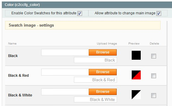 Color Swatch plugin in the backend